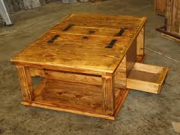 Large Storage Coffee Table Large Rustic Storage Coffee Table Diy Secret Rustic Storage