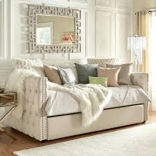 white daybed with pop up trundle upholstered daybed twin gray