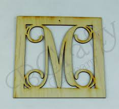 vine single letter wooden ornaments 1 8 inch thick wood