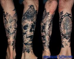 black and grey tree leg tattoos photo pictures images and