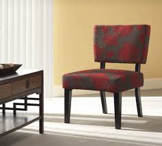 linon taylor accent chair red gray black flower