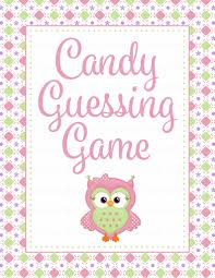 candy guess baby shower game owl baby shower theme for baby