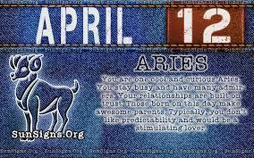 april 12 birthday horoscope personality sun signs