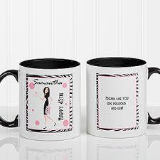 design coffee mug birthday girl personalized coffee mug for women black handle