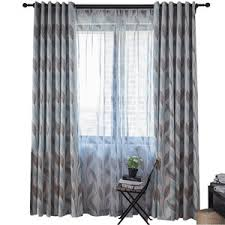 Patterned Curtains And Drapes Black And White Tree Print Linen Cotton Blend Bedroom Curtains On Sale