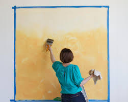 learn how to paint a stenciled ombre wall mural how tos diy next