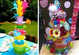 Mad Hatter Tea Party Centerpieces by Alice In Wonderland Party Ideas