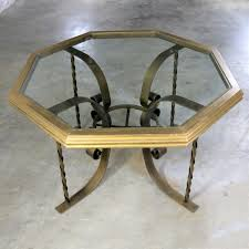 wrought iron dining table glass top regency wrought iron dining table with octagon gilded wood rimmed