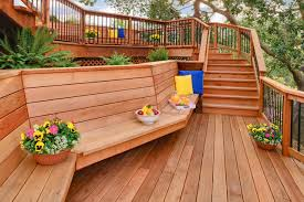 redwood bench houzz