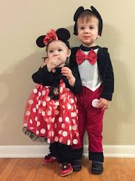 Minnie Mouse Halloween Costumes Adults Mickey Minnie Mouse Halloween Sibling Costumes Brother Sister