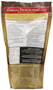 amazon com marshall premium ferret diet 35 pound bag dry pet
