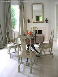 Queen Anne Dining Room Furniture by Tone On Tone Duncan Phyfe Dining Table With Painted Queen Anne