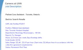list of hospitals that offer psw jobs in toronto