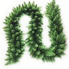 2 7m long green christmas garland pine wreath xmas fireplace tree