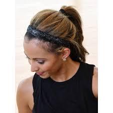 non slip headbands viva 1 inch black sparkle non slip headbands