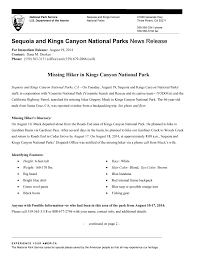 2014 news release archives sequoia u0026 kings canyon national parks