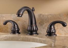 bronze 3 piece bathroom faucet