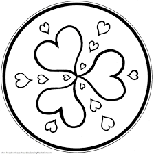 mandala coloring pages hearts mandala coloring pages of