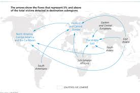 Map Of North East America by Map Of The Day Where Humans Are Trafficked Un Dispatch