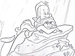 printable mermaid coloring sheets pages free princess