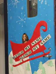 the teachers at my are having a door decorating contest