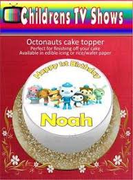 octonauts cake toppers personalised octonauts cake topper on edible icing or rice paper