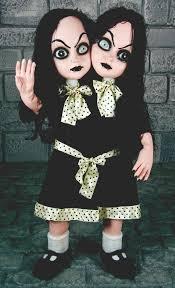 halloween horror props standing two headed halloween horror prop