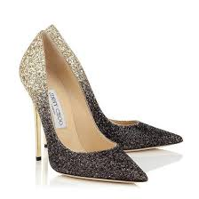wedding shoes chagne sparkly sequins fabric change colour pointed toes high heel bridal