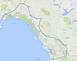 Alaska Route Map by Alaska And The Canadian Rockies Motorrad Tours