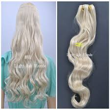 light ash blonde clip in hair extensions 88 light ash blonde color synthetic wavy clip in hair one piece only