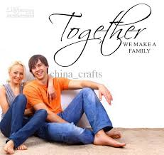Wall Quotes For Living Room by Together We Make A Family Wall Quotes Stickers Living Room