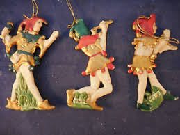set 3 vintage taiwan porcelain jester ornaments 4 1 4 ebay