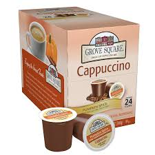 cappuccino amazon com grove square cappuccino pumpkin spice 24 single s