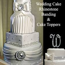 wedding cakes with bling rhinestone wedding cake banding bling for wedding cake