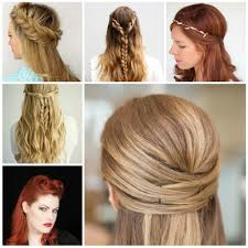 half up half down updo hairstyles half up down hairstyles for long