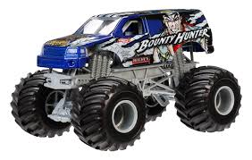 monster jam truck names amazon com wheels monster jam bounty hunter die cast vehicle