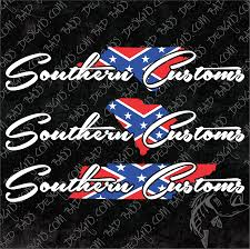Confederate Flag Decals Truck Southern Customs Rebel Flag Decals Bad Bass Designs