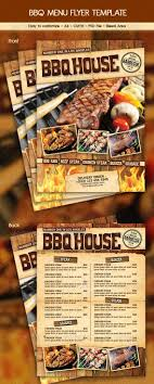 flyer menu template bbq menu template