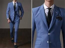 2016 handsome business suit casual mens wear sky blue suit men u0027s
