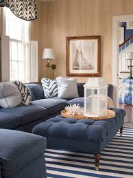 blue sofa living room interior design
