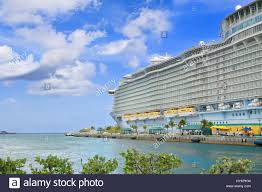 the royal caribbean cruise ship allure of the seas moored in stock