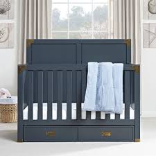 Convertible Crib Bed by Dorel Living Monbebe Wyatt 5 In 1 Convertible Crib Graphite Blue