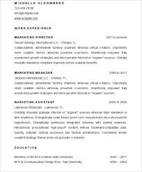 Sample Marketing Resume by Mac Resume Template U2013 Great For More Professional Yet Attractive