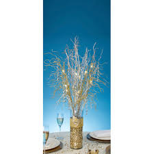 lighted branches curly gold glitter branch battery operated led lighted branches