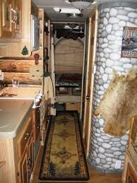 Motorhome Custom Interiors Couple Gets Closer To Nature With A Custom Log Cabin Interior