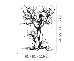 the skull symbolizes the great maternal tree wall stickers