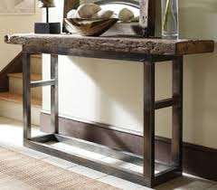 wood and iron sofa table emeric iron leg console table very inspiring for the home