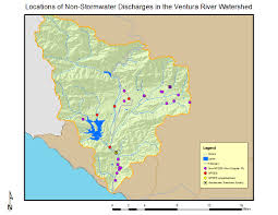 Ventura County Map Ventura River Watershed