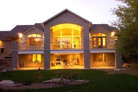open floor house plans with walkout basement walk out house plans with walkout basement plan lake front open