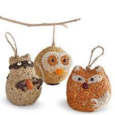friends birdseed ornaments